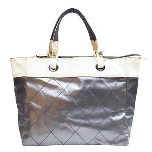 Chanel Biarritz metallic canvas medium tote bag